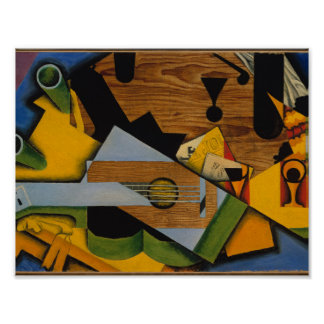 Still Life with a Guitar by Juan Gris, 1913 Poster