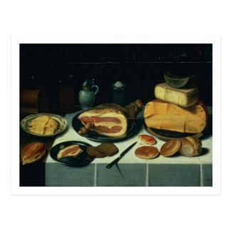 Still Life with a Ham (oil on panel) Postcard