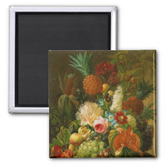 Still Life with a Melon and Grapes Refrigerator Magnets