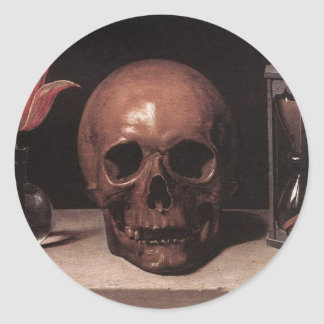 Still Life With a Skull Classic Round Sticker