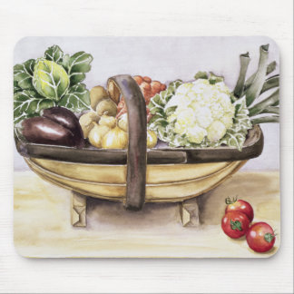 Still life with a trug of vegetables 1996 mouse pad
