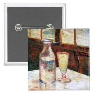 Still Life with Absinthe Van Gogh Fine Art 15 Cm Square Badge