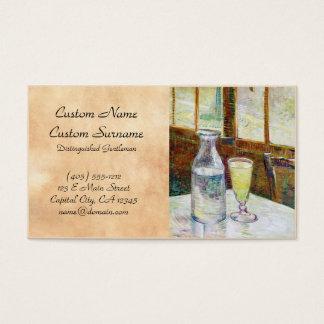 Still Life with Absinthe Vincent van Gogh paint Business Card