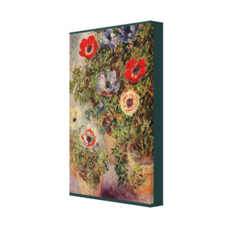 Still-Life with Anemones by Claude Monet Canvas Print