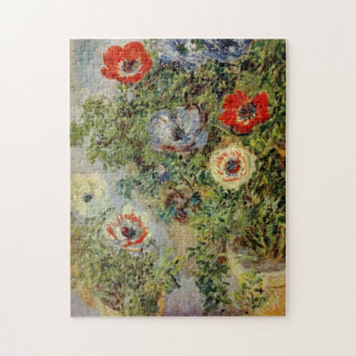 Still Life with Anemones Monet Fine Art Jigsaw Puzzle