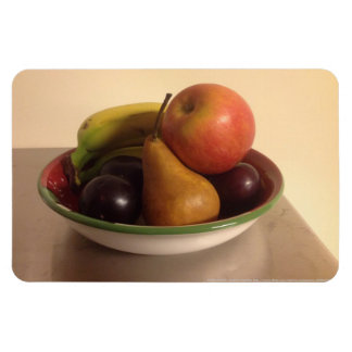 Still Life with Apple, Bananas, Pear and Plums Rectangle Magnets
