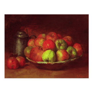 Still Life with Apples and a Pomegranate Postcard