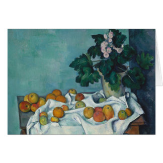 Still Life with Apples and a Pot of Primroses Card