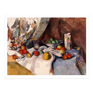Still Life with Apples by Paul Cezanne Postcard