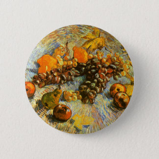Still Life with Apples, Pears, Grapes - Van Gogh 6 Cm Round Badge