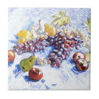 Still Life with Apples, Pears, Grapes - Van Gogh Ceramic Tile