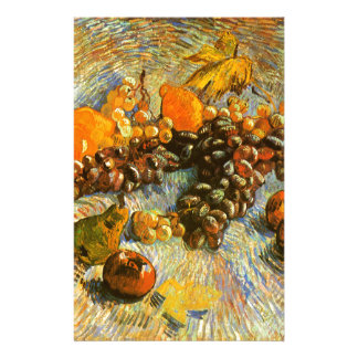 Still Life with Apples, Pears, Grapes - Van Gogh Customised Stationery