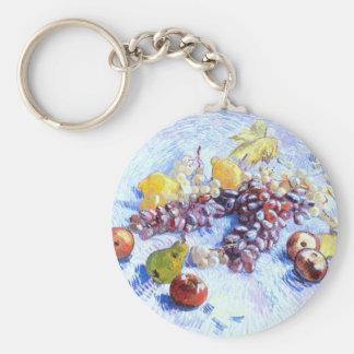 Still Life with Apples, Pears, Grapes - Van Gogh Key Ring