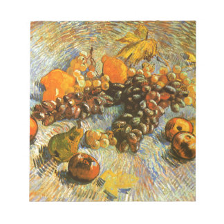 Still Life with Apples, Pears, Grapes - Van Gogh Notepad