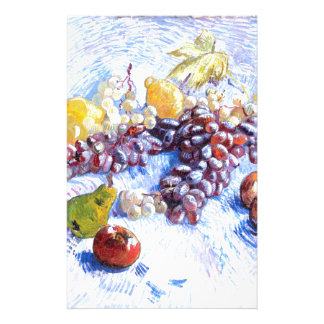 Still Life with Apples, Pears, Grapes - Van Gogh Personalized Stationery