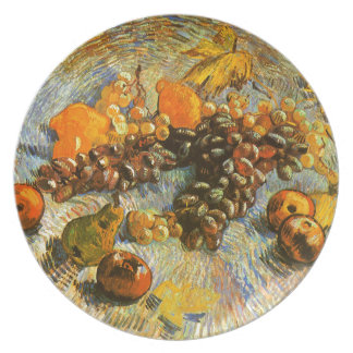 Still Life with Apples, Pears, Grapes - Van Gogh Plate
