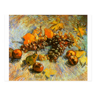 Still Life with Apples, Pears, Grapes - Van Gogh Postcard