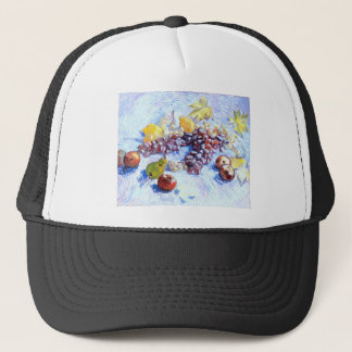 Still Life with Apples, Pears, Grapes - Van Gogh Trucker Hat