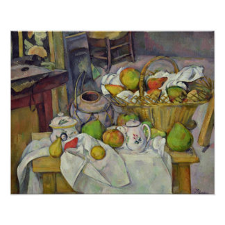 Still life with basket, 1888-90 poster
