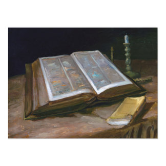 Still Life with Bible by Vincent Van Gogh (1885) Card