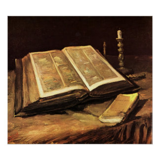 Still Life with Bible by Vincent van Gogh Poster