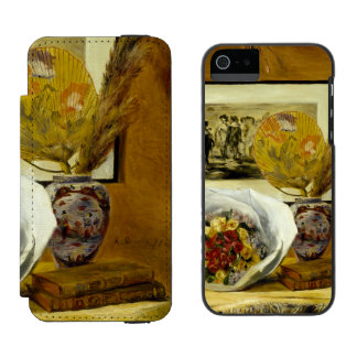 Still Life with Bouquet by Pierre-Auguste Renoir Incipio Watson™ iPhone 5 Wallet Case