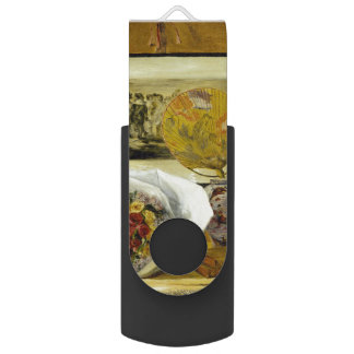 Still Life with Bouquet by Pierre-Auguste Renoir Swivel USB 2.0 Flash Drive