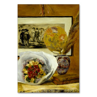 Still Life with Bouquet by Pierre-Auguste Renoir Table Card