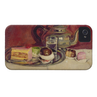 Still Life with Cakes and a Silver Teapot (oil on Case-Mate iPhone 4 Case