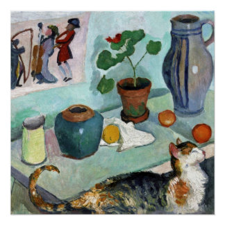 Still Life with Cat by August Macke