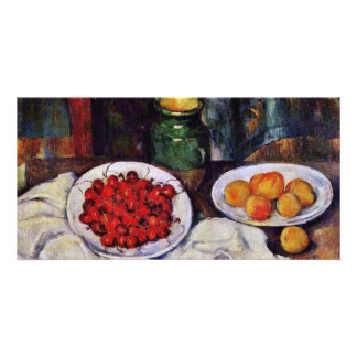 Still Life With Cherries And Peaches By Paul Cézan Personalized Photo Card