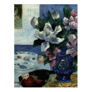 Still Life with Chinese Peonies and Mandoline Postcard