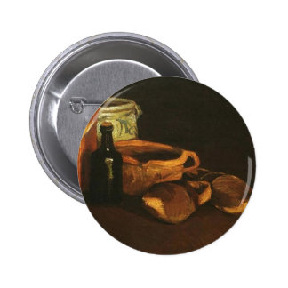 Still Life with Clogs and Pots Van Gogh Button