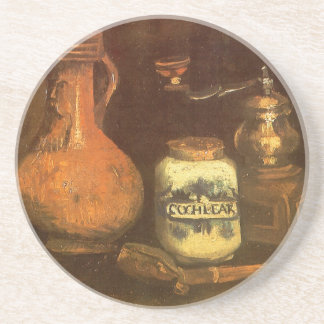 Still Life with Coffee Mill by Vincent van Gogh Beverage Coaster