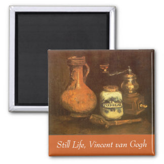Still Life with Coffee Mill by Vincent van Gogh Square Magnet