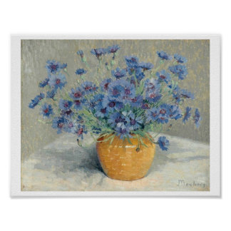 Still Life with Cornflowers by Ernest Moulines (18 Poster