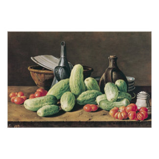 Still Life with Cucumbers and Tomatoes Poster