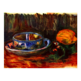 Still life with cup by Pierre Renoir Post Cards