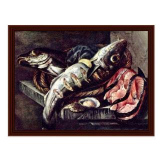 Still Life With Fish, Postcard