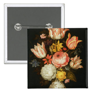 Still Life with Flowers 15 Cm Square Badge