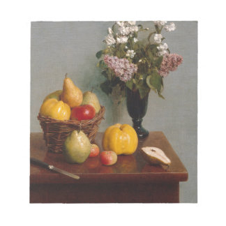 Still Life with Flowers and Fruit Notepad