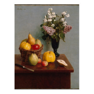 Still Life with Flowers and Fruit Postcard