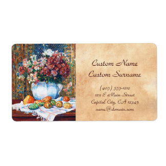 Still Life with Flowers and Prickly Pears Renoir Shipping Label