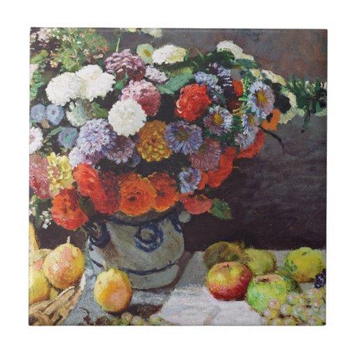 Still Life with Flowers & Fruit - Monet Ceramic Tiles