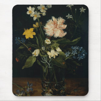 Still Life With Flowers In A Glass Mouse Pad