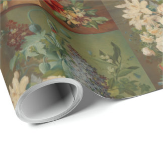 Still Life With Flowers in a Terracotta Vase Wrapping Paper