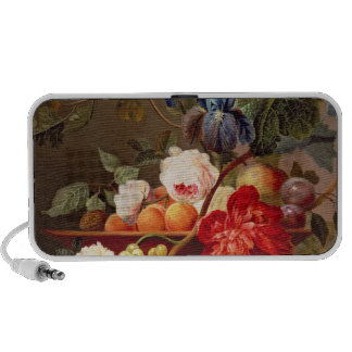 Still life with fruit and flowers portable speaker