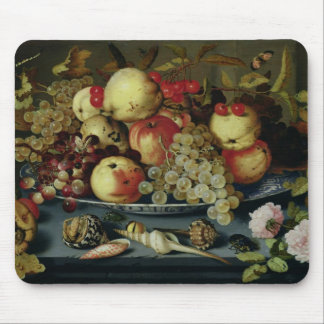 Still Life with Fruit, Flowers and Seafood Mouse Pad
