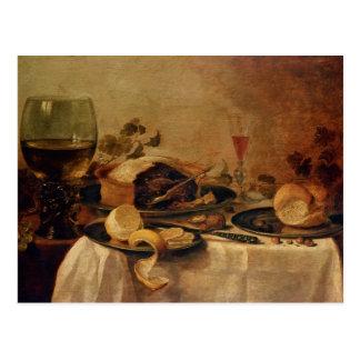 Still Life with Fruit Pie, 1635 Postcard
