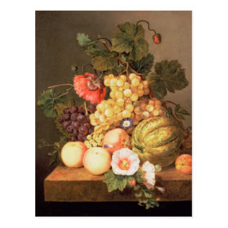 Still life with fruit postcard